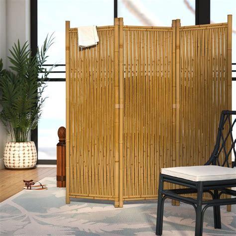 Josephine 63 x 60 3 Panel Bamboo Room Divider