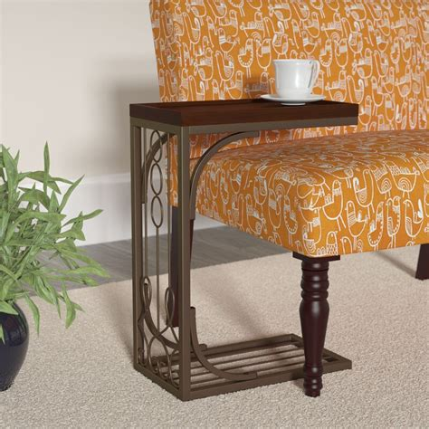 Josephine Tray Top End Table in Brown and Burnished Brown