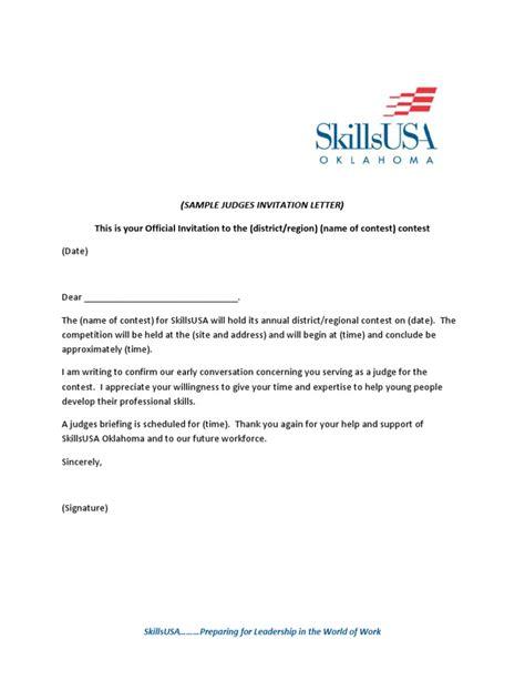 Judge invitation letter sample resume maker in noida judge invitation letter sample performance letter best sample letter stopboris Image collections