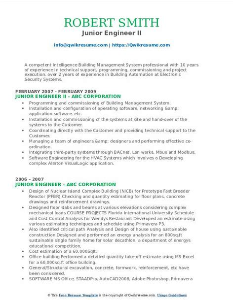 sample resume for junior mechanical engineer junior engineer resume sample free resume builder - Junior Mechanical Engineer Sample Resume