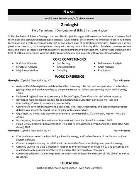 Resume Sample Resume Of Junior Geologist junior geologist resume sample job description example architect best resume
