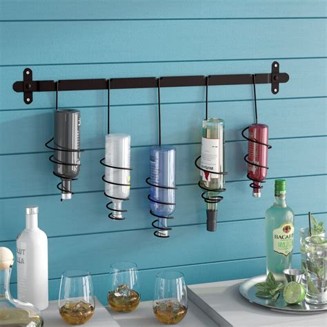 Justis 5 Bottle Wall Mounted Wine Rac by