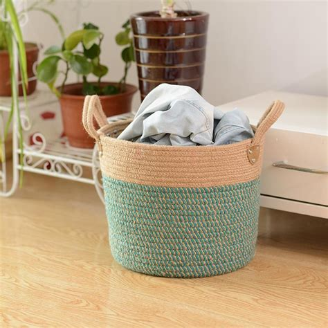 Jute Storage Basket  Ebay.