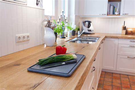 Küche Holzboden Holzarbeitsplatte