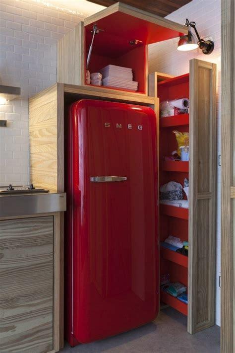 Küche Roter Kühlschrank