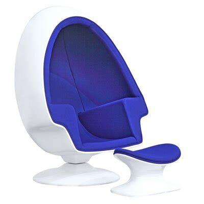 Kaj Alpha Swivel Balloon Chair and Ottoman