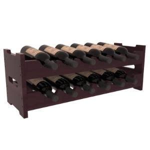 Karnes Redwood Scalloped 12 Bottle Tabletop Wine Rac by
