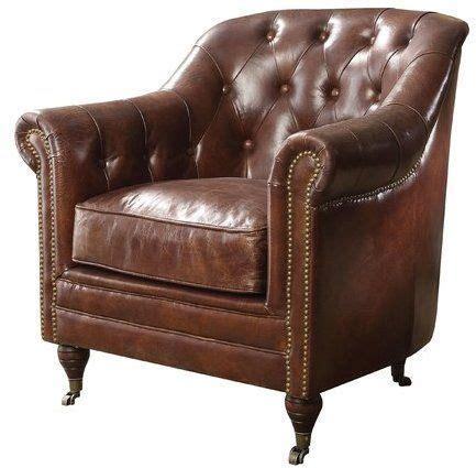 Kasha Top Grain Leather Club Chair