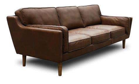 Kaufman Mid Century Modern Leather Sofa