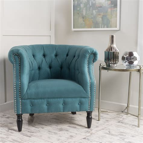 Keaton Tufted Fabric Club Chair