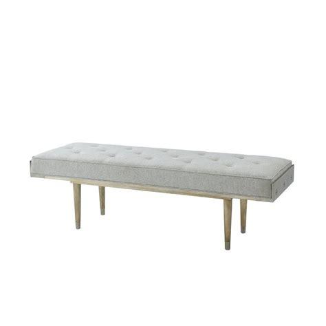 Keenes Upholstered Bench in Grey