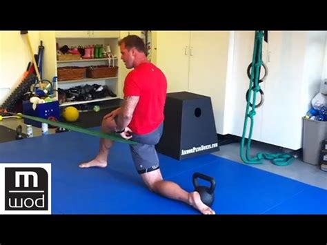 kelly starrett hip flexor stretching and strengthening following
