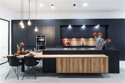 Keuken Hout Met Zwart