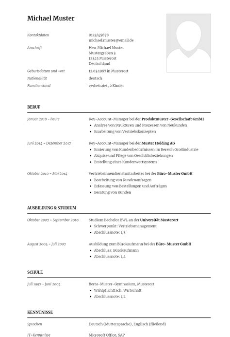 key account manager cv beispiel. senior manager contractors ...