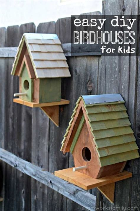 kids woodworking projects birdhouse