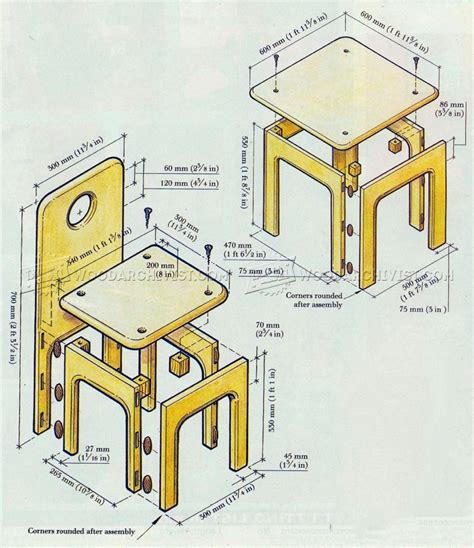 Kids Table And Chairs Plans