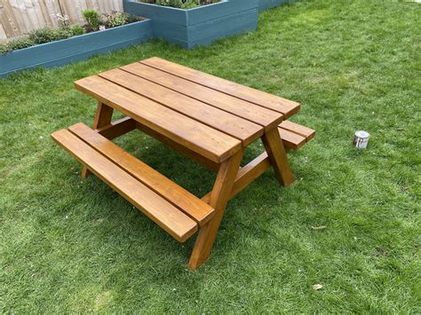 Kids White Picnic Table