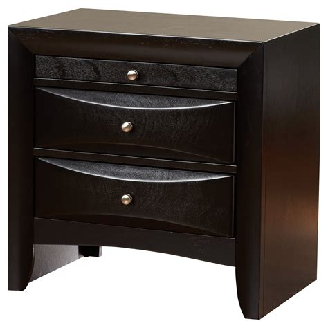 Kim 3 Drawer Nightstand