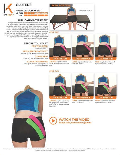 kinesio tape hip flexor and abs