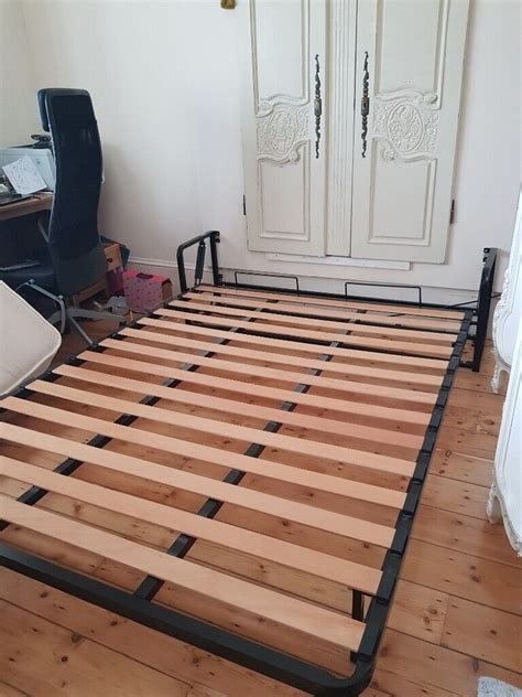 King Bed Frame Elevated Fold Up Bed With Mattress Sears