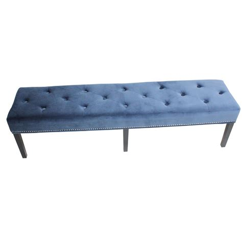 King Velvet Upholstered Bench