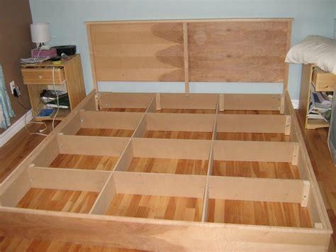 King Platform Bed Plans