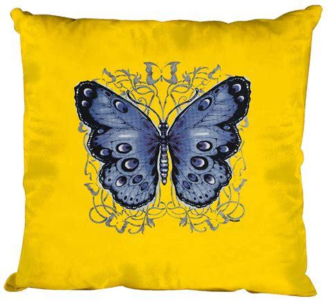 Kissen Mit Print Schmetterling Butterfly Gr Ca 40cm X 40cm Incl Füllung K06992 Gelb