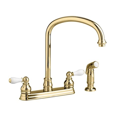 Brass Kitchen Faucets Polished Brass Finish.