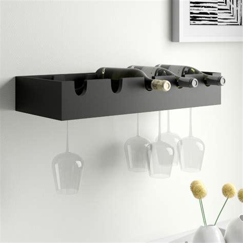 Kittleson 5 Bottle Wall Mounted Wine Rac by