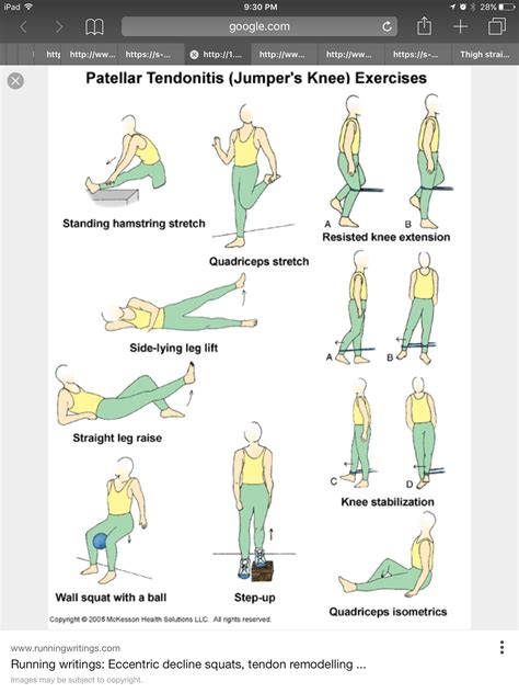 knee tendonitis physical therapy exercises