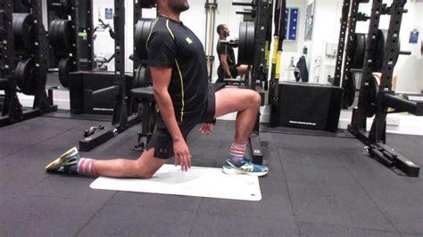 kneeling hip flexor and hamstring