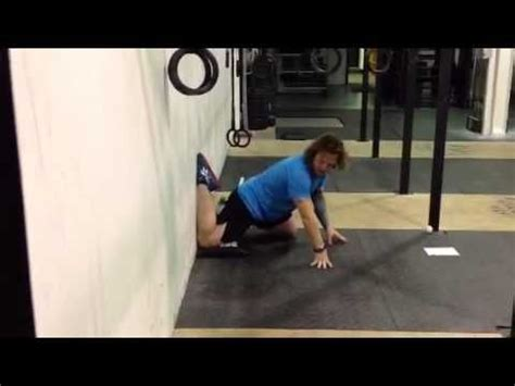 kneeling hip flexor stretch foot elevated after bunion