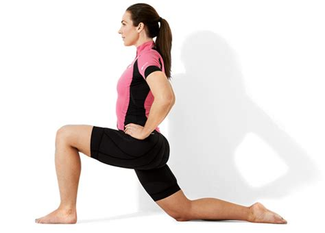 kneeling hip flexor stretch foot elevated lunge exercise muscles