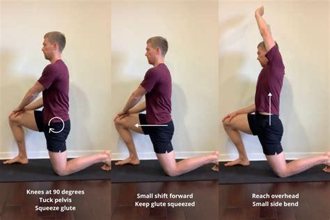 kneeling hip flexor stretch muscles before workout