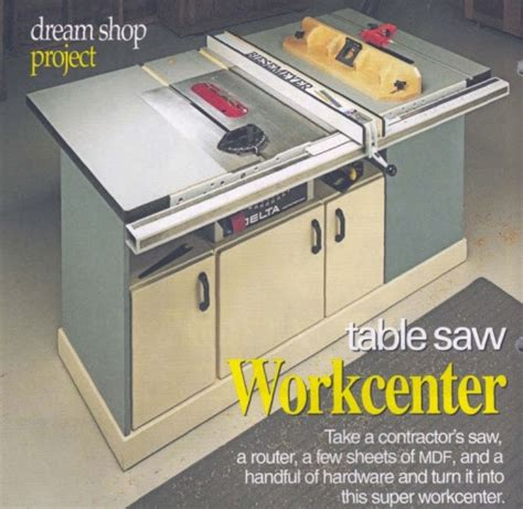 Knockdown Table Saw Station Woodworking Plan