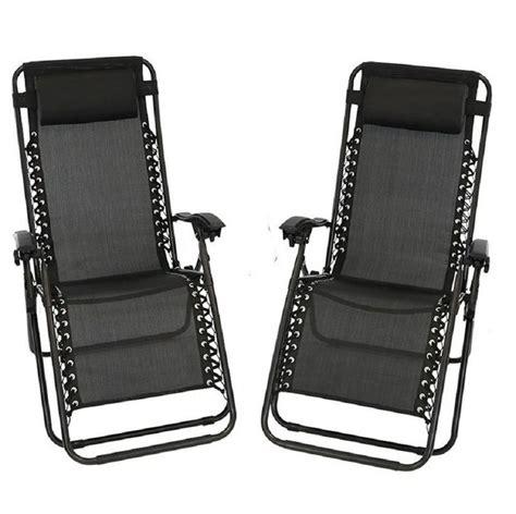 Koopman Décor Reclining/Folding Zero Gravity Chair (Set of 2)