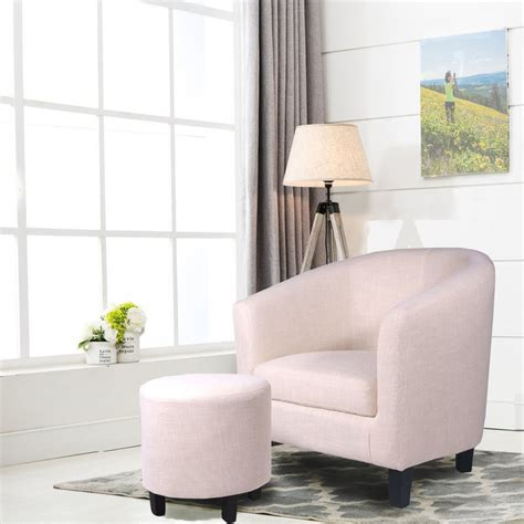 Korina Barrel Chair and Ottoman