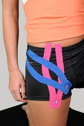 kt tape for inner hip flexor pull exercises bodyweight crossfit