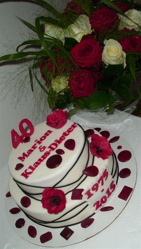 Kuchen Deko Zum 40 Geburtstag 79 Besten Rubinhochzeit  Deko  Geschenke Zum 40