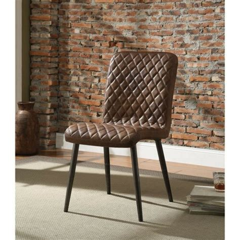 Kyle Diamond Patterned Upholstered Dining Chair (Set of 2)