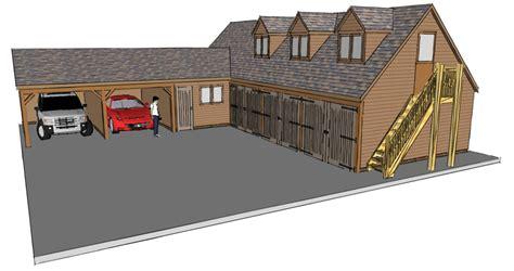 L Shaped Garage Shop Plans