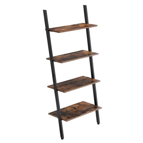 ladder style bookcase rustic