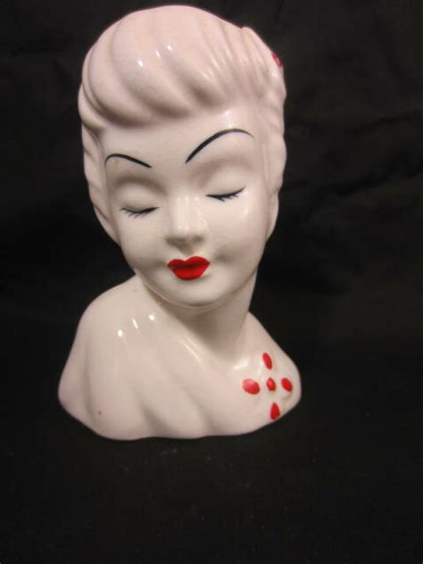 Lady Head Planter  Ebay.