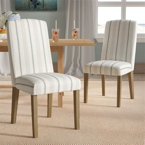 Lake Kathryn Stripe Parsons Chair (Set of 2)