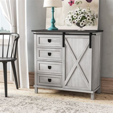 Lamb Farmhouse 4 Drawer Accent Cabinet
