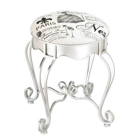 Lamere Pretty in Paris Metal Stool