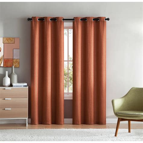 Lamia Solid Color Grommet Single Curtain Pane by