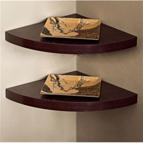 Laminate Corner Radial Shelf (Set of 2)