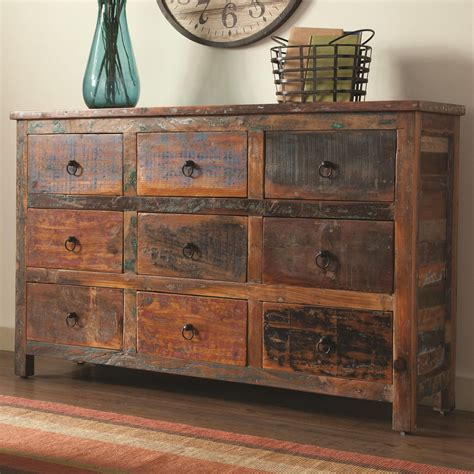 Lance Reclaimed Wood 9 Drawer Accent Chest