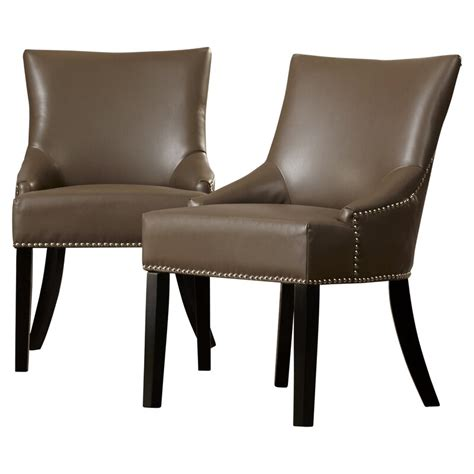 Lane Genuine Leather Upholstered Dining Chair (Set of 2)